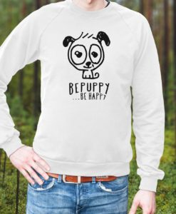 Crew neck sweaters for man bepuppy be happy! - BEPUPPY