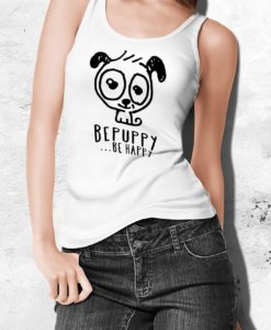 Women's tank tops bepuppy be happy! - BEPUPPY