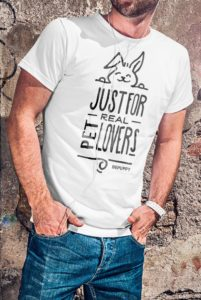 Men's tees just for real pet lovers! Bunny lover t-shirts - BEPUPPY